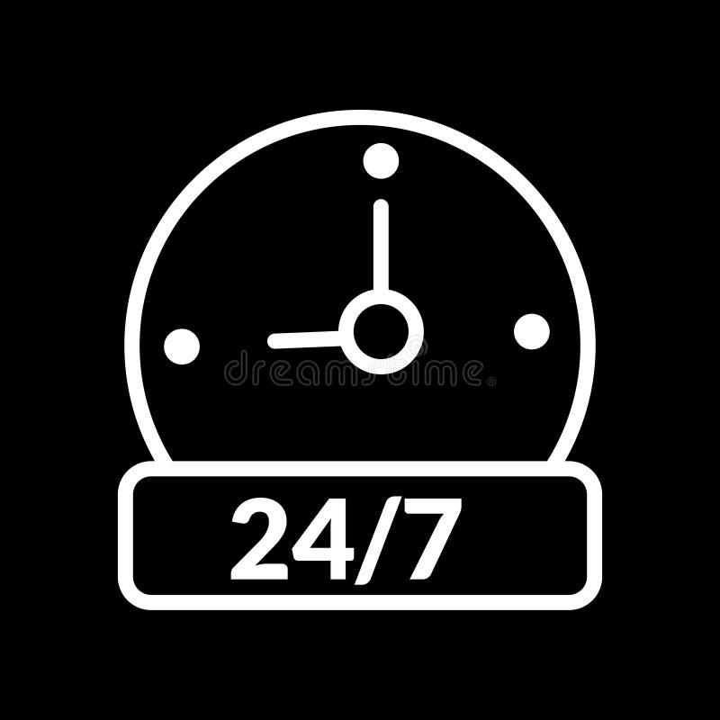 Значок символа иллюстрации вектора времени открытия часа отверстия б иллюстрация штока