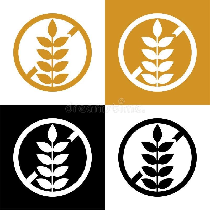 Значок символа клейковины свободные или набор ярлыка бесплатная иллюстрация