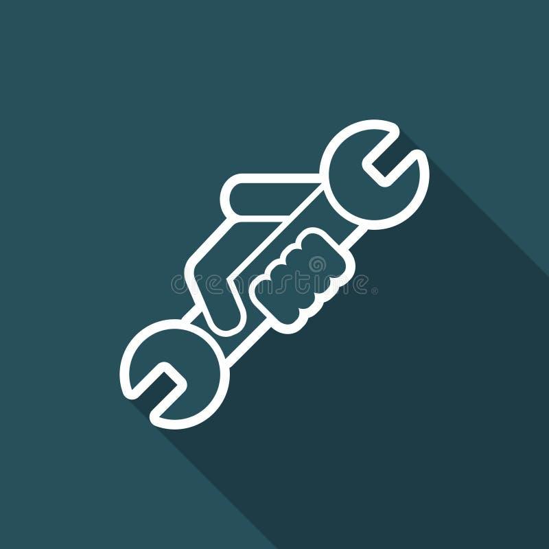 Значок символа ключа иллюстрация вектора