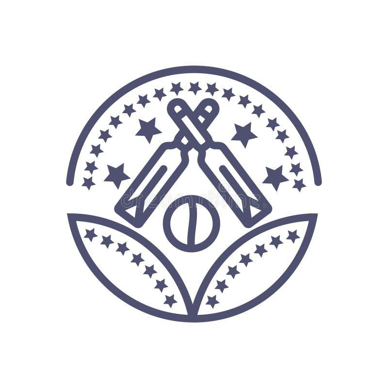 Значок символа награды сверчка вектора иконы знака вектора награды сверчка иллюстрация вектора