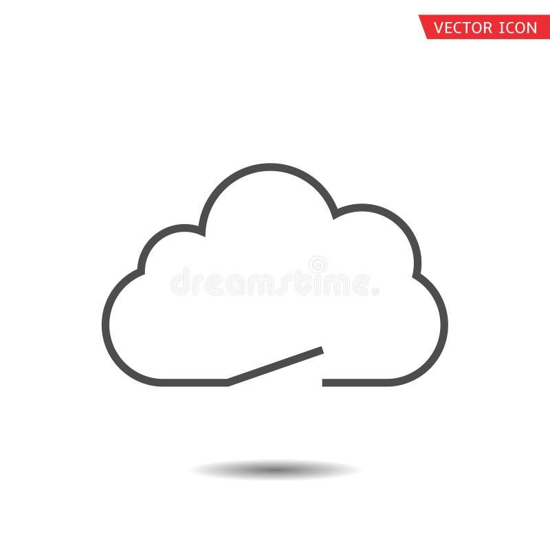 Значок символа облака иллюстрация вектора