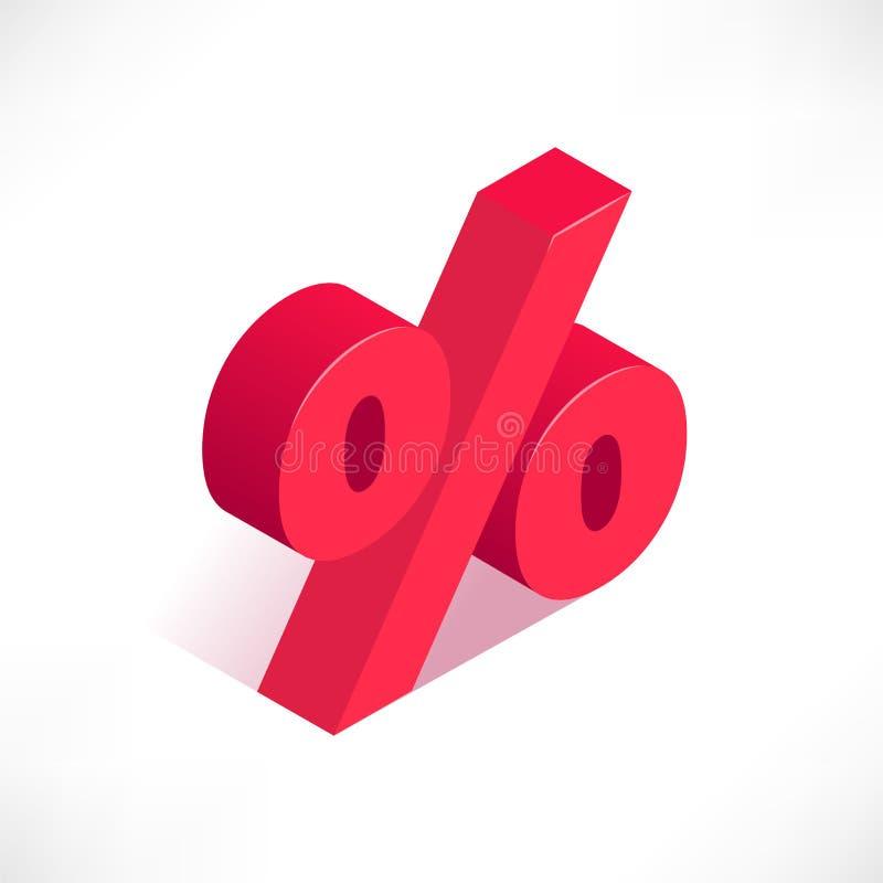 Значок символа процентов иллюстрация вектора