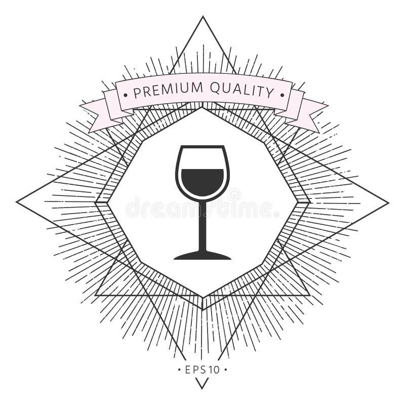 Значок символа рюмки иллюстрация вектора