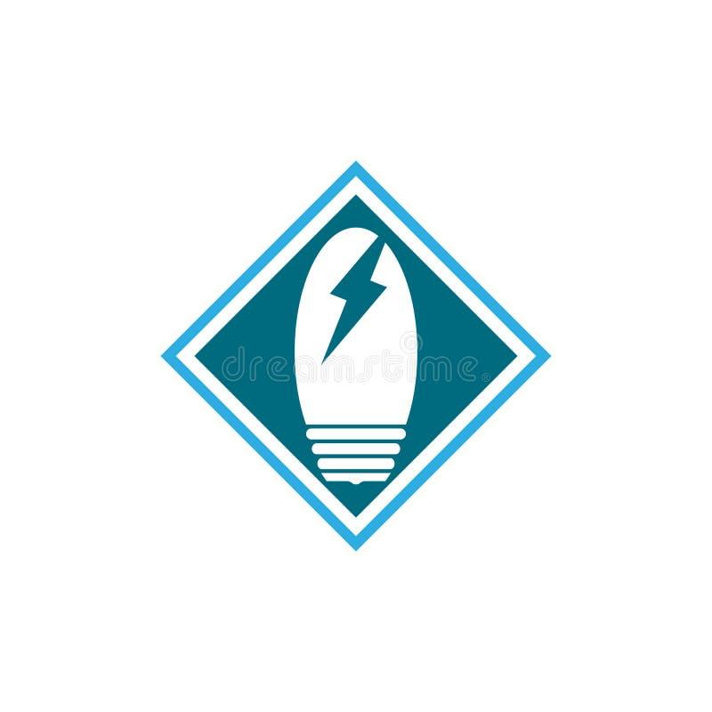 значок символа электрической лампочки иллюстрация вектора