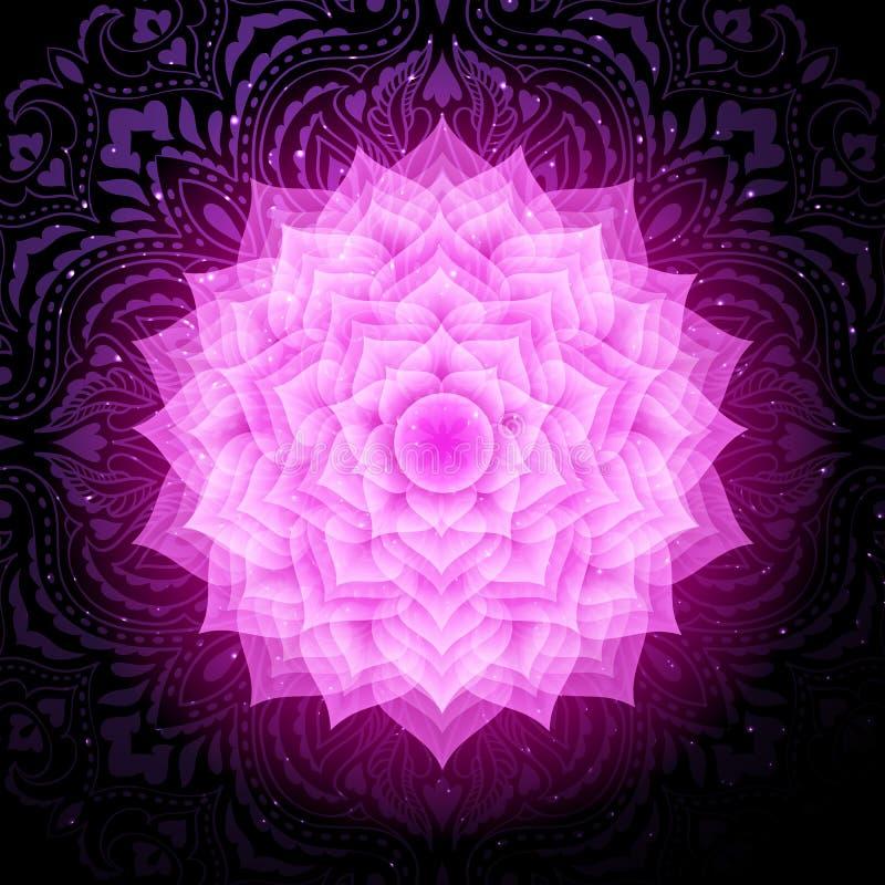 Значок символа chakra Sahasrara красочный Chakra кроны иллюстрация вектора