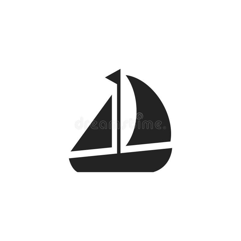 Значок, символ или логотип вектора глифа шлюпки иллюстрация штока