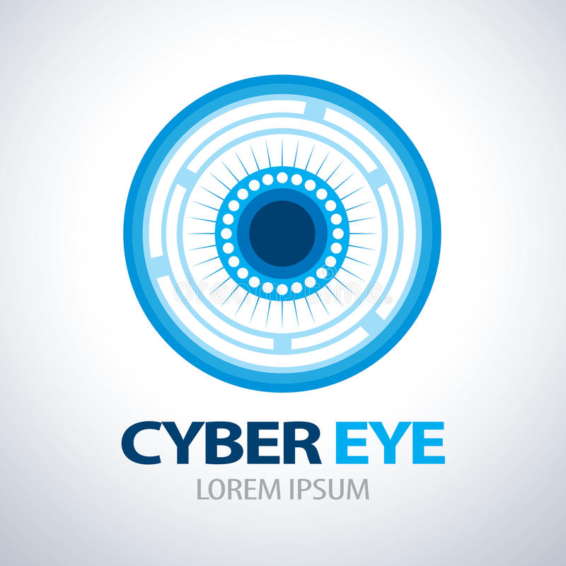 Значок символа глаза кибер иллюстрация вектора