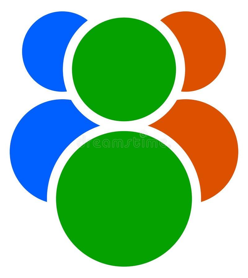 Download Значок, символ с 3 персоной/характерами Икона людей Иллюстрация вектора - иллюстрации насчитывающей concept, фронт: 81806257