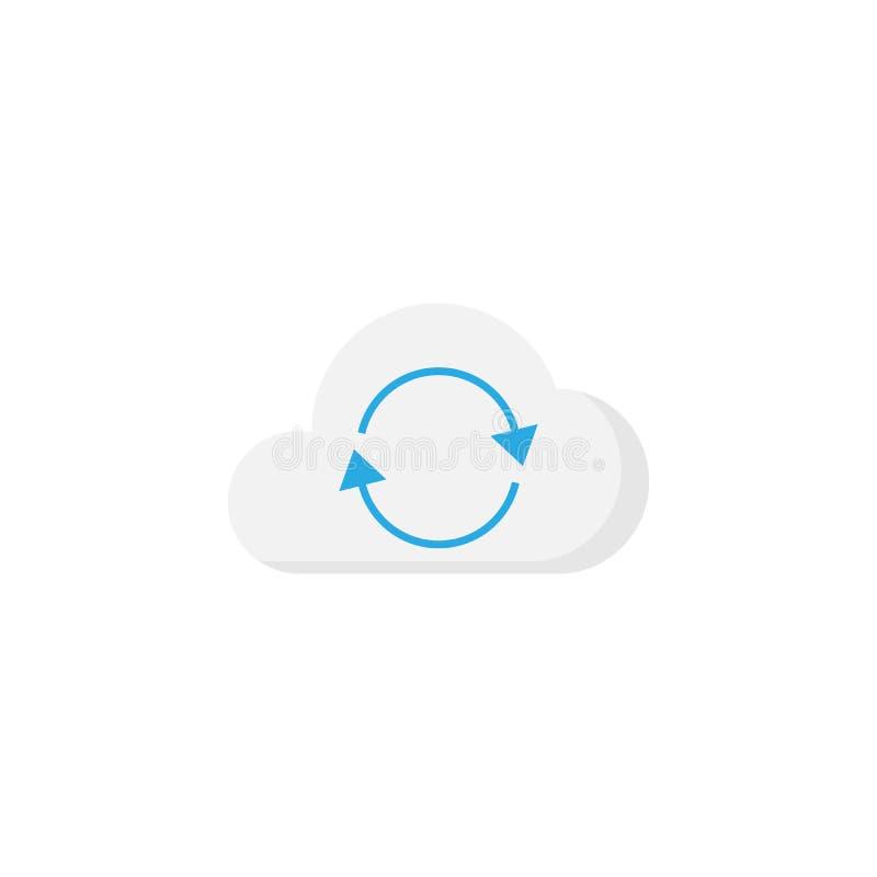 Значок синхронизации облака плоский бесплатная иллюстрация