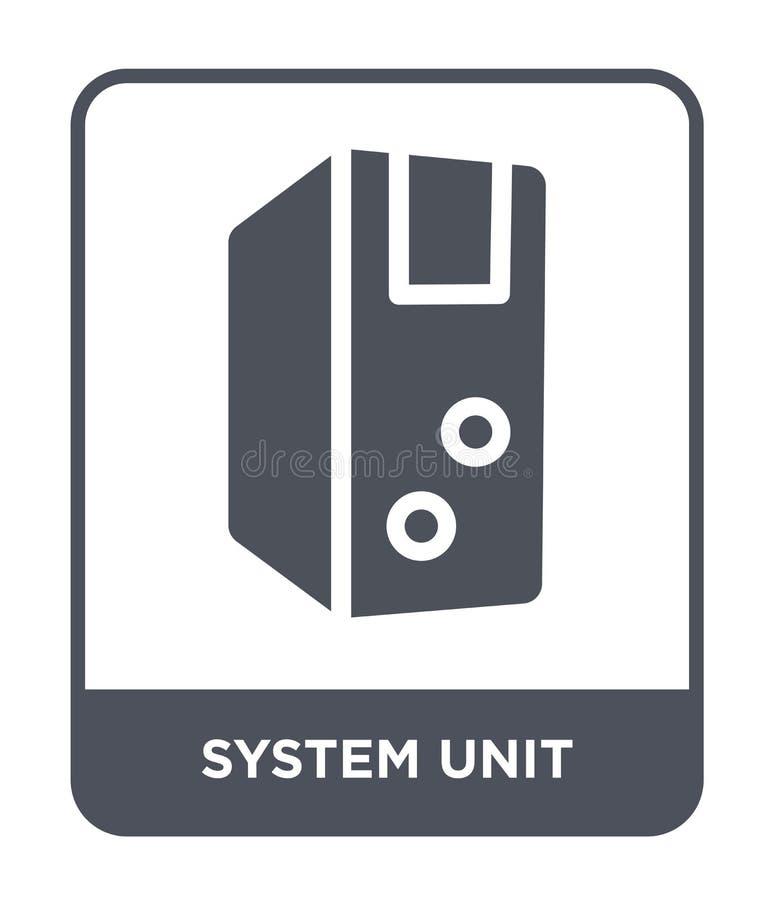 значок системного блока в ультрамодном стиле дизайна значок системного блока изолированный на белой предпосылке значок вектора си иллюстрация штока