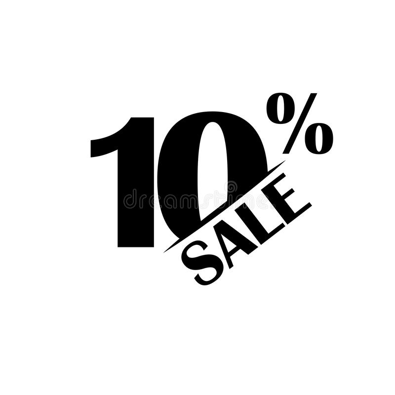 Значок скидки продаж Особенная цена предложения 10 процентов - вектор иллюстрация вектора