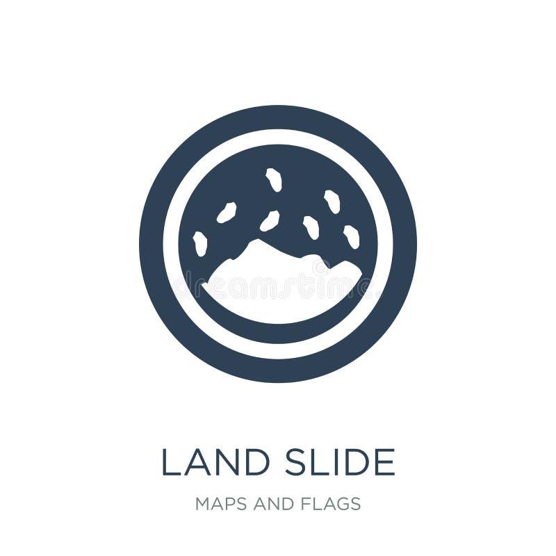 значок скольжения земли в ультрамодном стиле дизайна значок скольжения земли изолированный на белой предпосылке значок вектора ск бесплатная иллюстрация