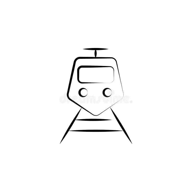 Значок скорого поезда Элемент анти- значка вызревания для передвижных apps концепции и сети Значок скорого поезда стиля Doodle мо иллюстрация вектора