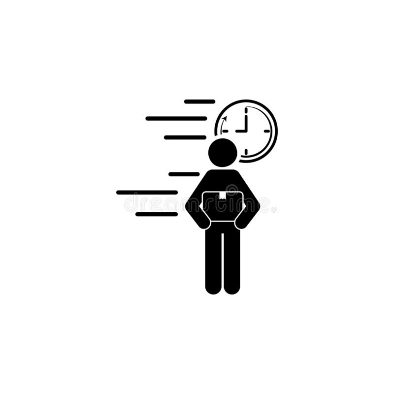значок скорости ордера на доставку товара Элемент значка скорости для передвижных apps концепции и сети Детальный значок скорости иллюстрация вектора