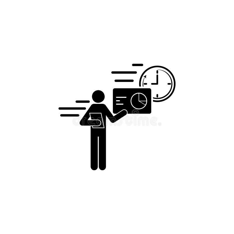 значок скорости работника дела говоря Элемент значка скорости для передвижных apps концепции и сети Скорость работника детального иллюстрация штока