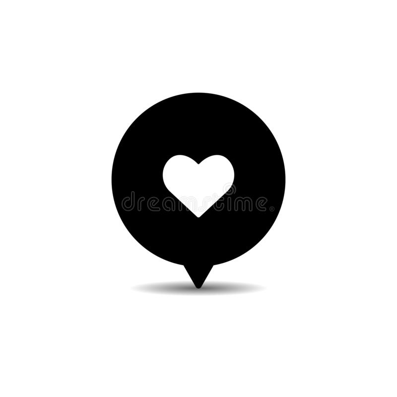 значок следующего, сердце, как значок вектора на белой предпосылке иллюстрация вектора