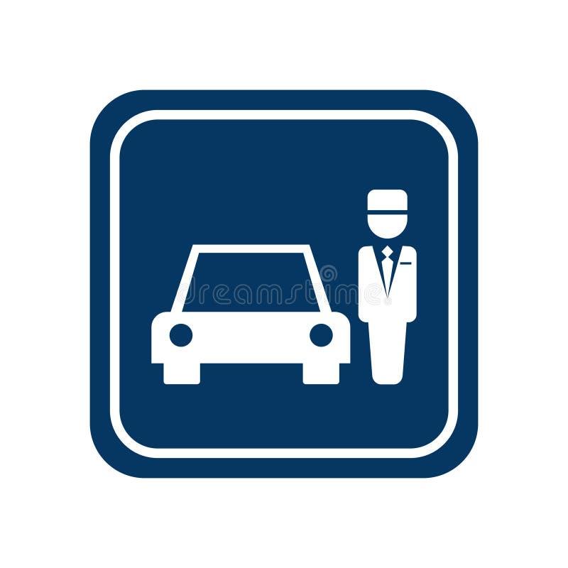 Значок слуги автостоянки иллюстрация вектора