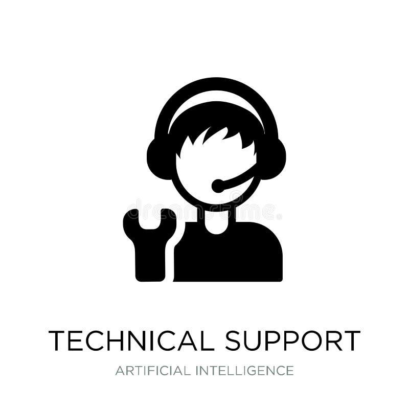 значок службы технической поддержки в ультрамодном стиле дизайна Значок службы технической поддержки изолированный на белой предп иллюстрация штока