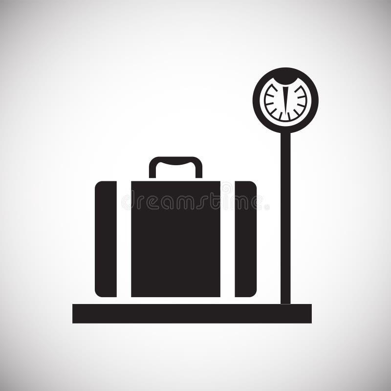 Значок случая на предпосылке для графика и веб-дизайна Простой знак вектора Символ концепции интернета для кнопки вебсайта или иллюстрация штока