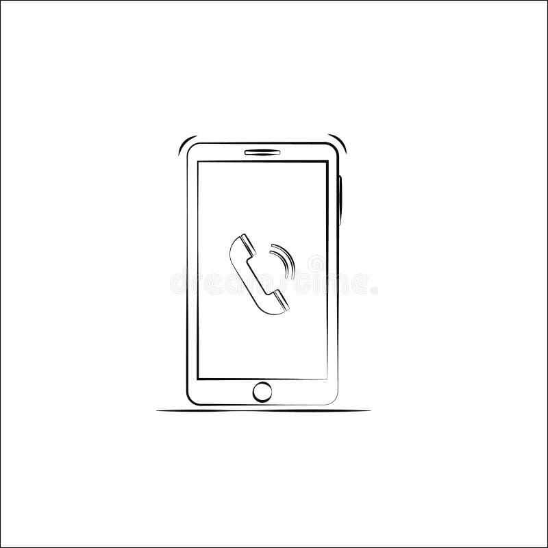 Значок смартфона плана r иллюстрация вектора