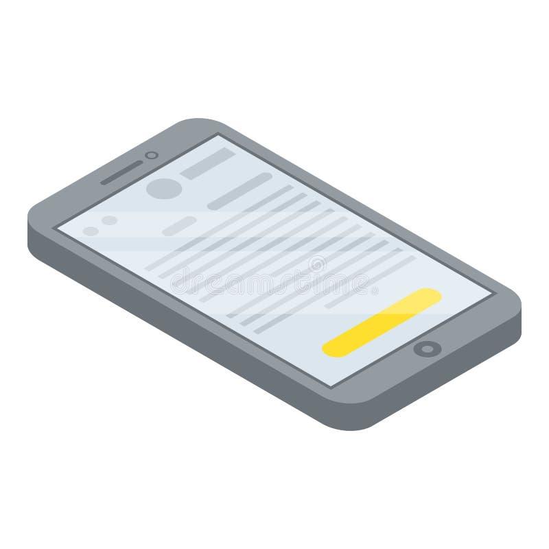 Значок смартфона, равновеликий стиль иллюстрация вектора