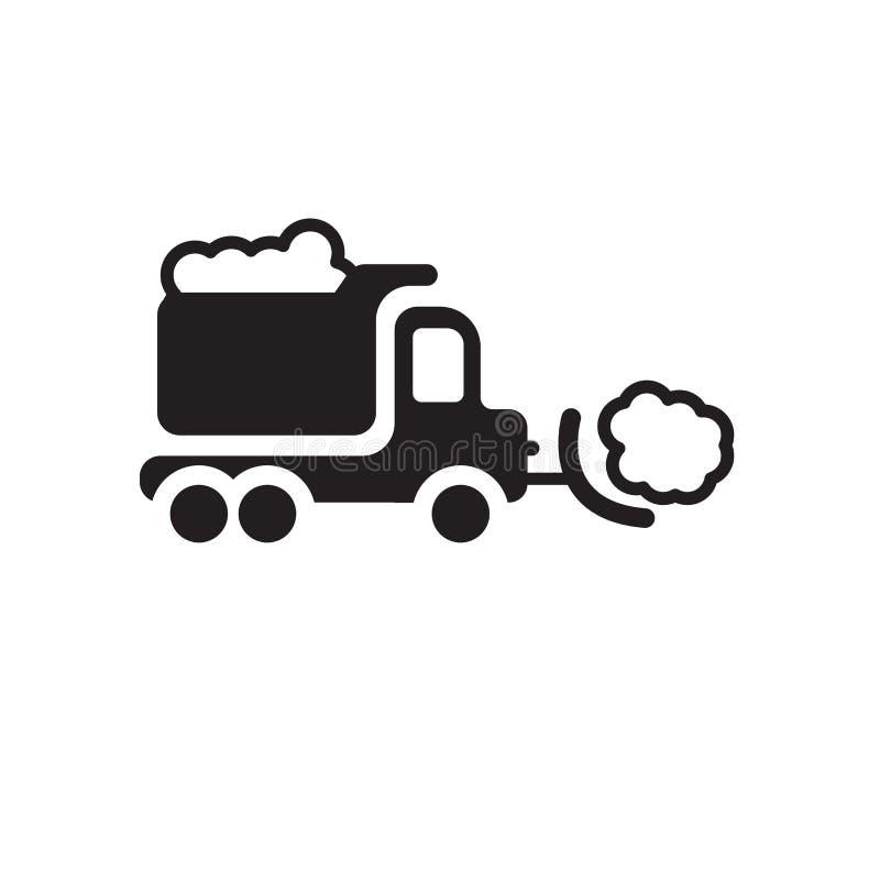 Значок снегоочистителя Ультрамодная концепция логотипа снегоочистителя на белой предпосылке бесплатная иллюстрация