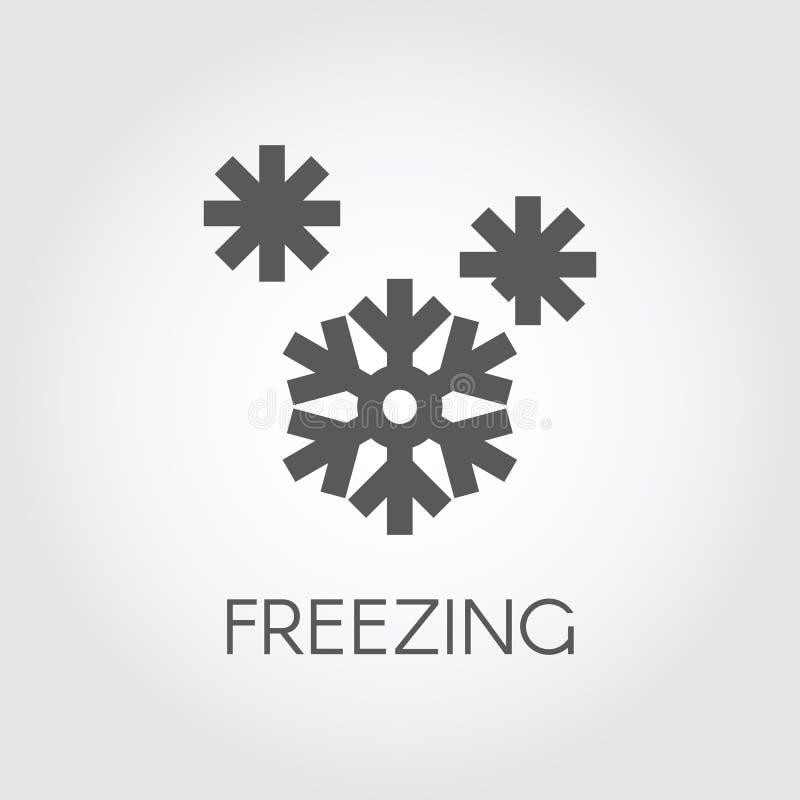 Значок снежинки в плоском дизайне Символ концепции погоды замерзать и сезонов иллюстрация штока