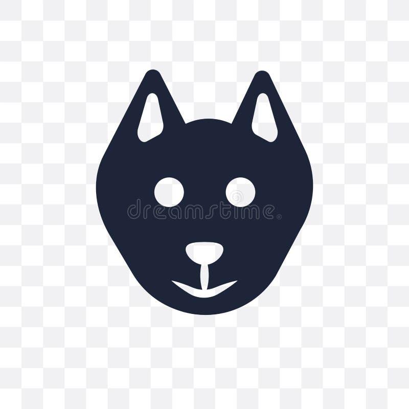 Значок собаки Шипперке прозрачный Дизайн fr символа собаки Шипперке иллюстрация вектора