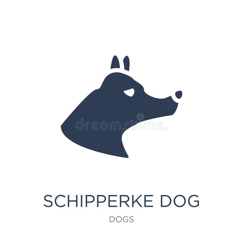 Значок собаки Шипперке Ультрамодный плоский значок собаки Шипперке вектора на w бесплатная иллюстрация