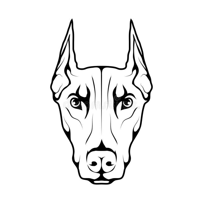 Значок собаки Doberman иллюстрация вектора