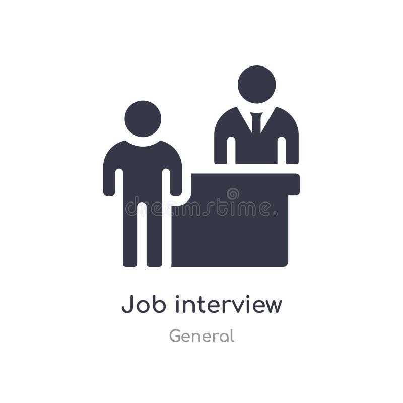 значок собеседования для приема на работу изолированная иллюстрация вектора значка собеседования для приема на работу от общего с бесплатная иллюстрация