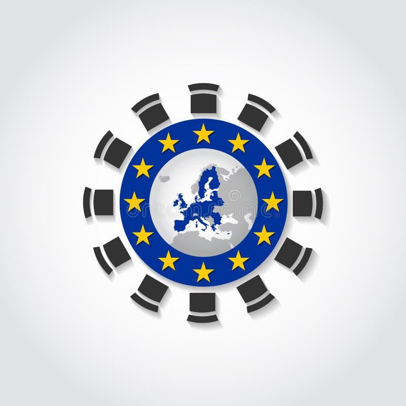 Значок собрания конференции встречи круглого стола Европейского союза стоковая фотография rf