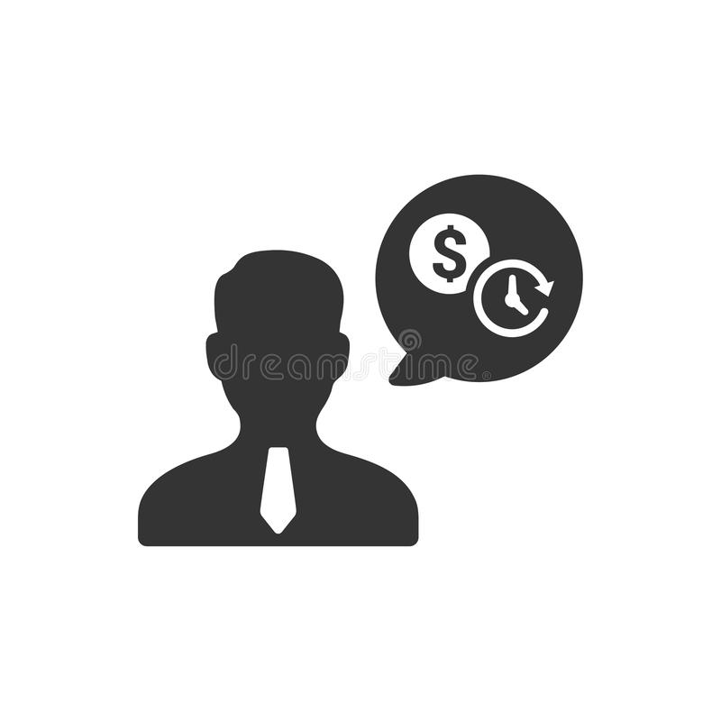 Значок советника дела иллюстрация вектора
