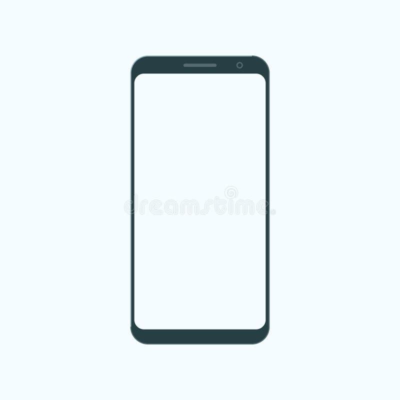 Значок современного мобильного телефона в стиле квартиры иллюстрация штока