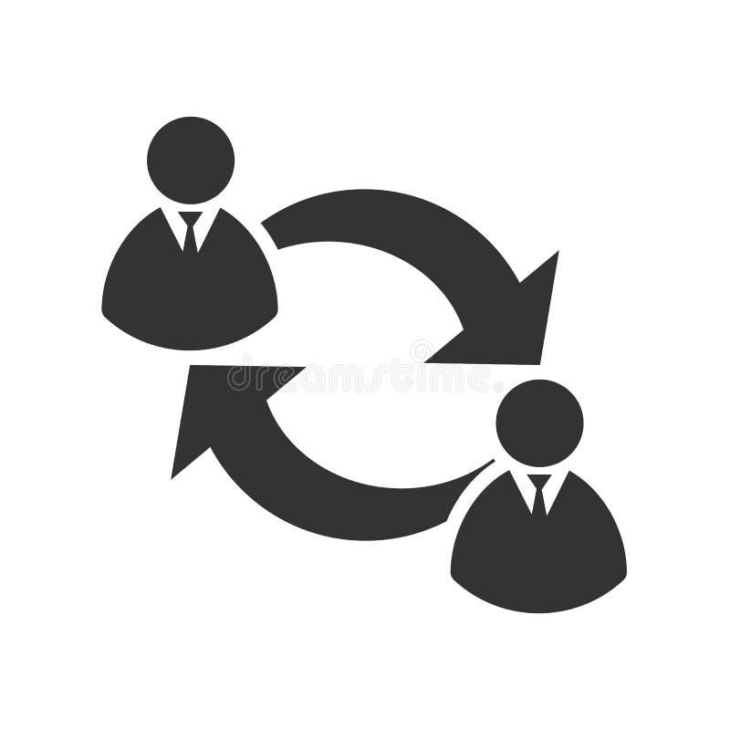 Значок соединения людей Значок бизнесмена иллюстрация вектора
