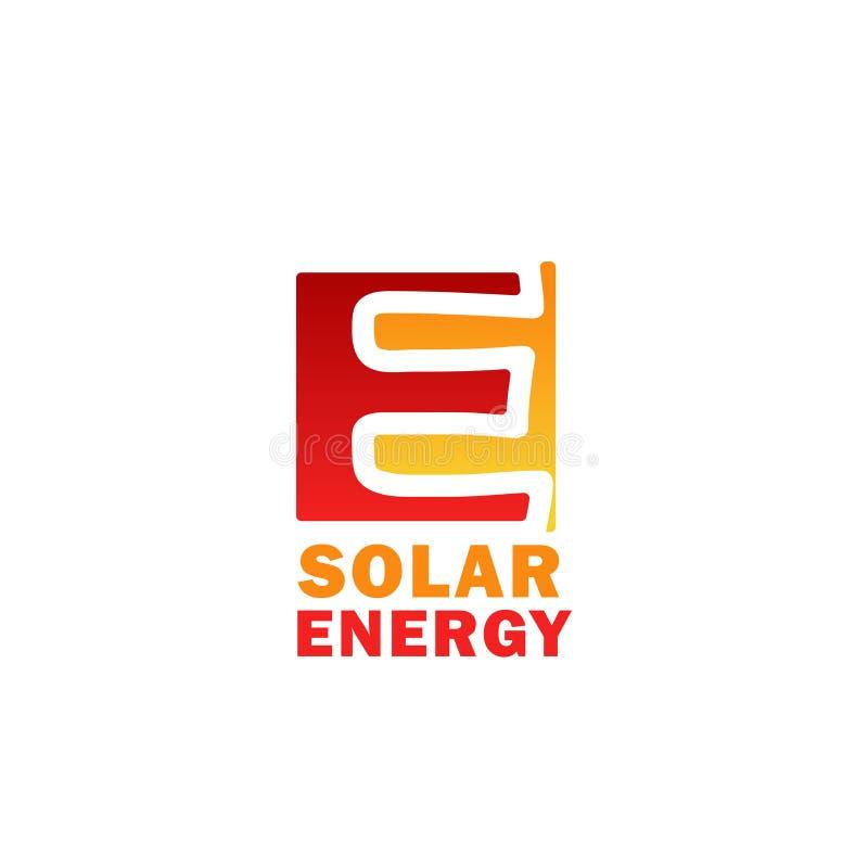Значок солнечной энергии для дизайна технологии силы солнца иллюстрация штока