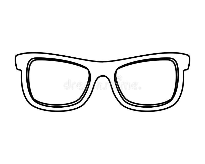 Значок солнечных очков изолированный аксессуаром бесплатная иллюстрация