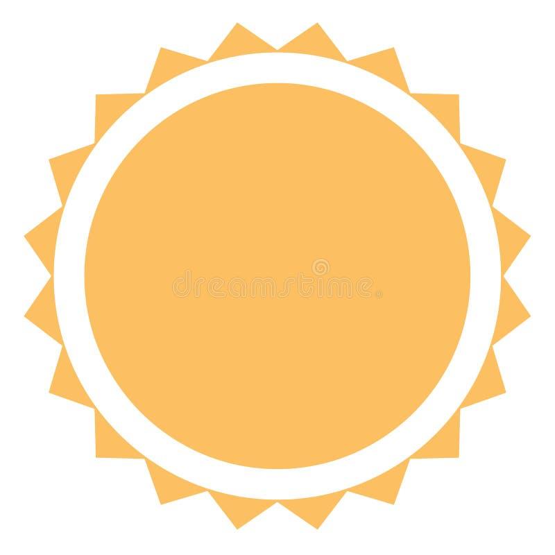 значок солнца на белой предпосылке Плоский стиль значок солнца для вашей сети иллюстрация штока