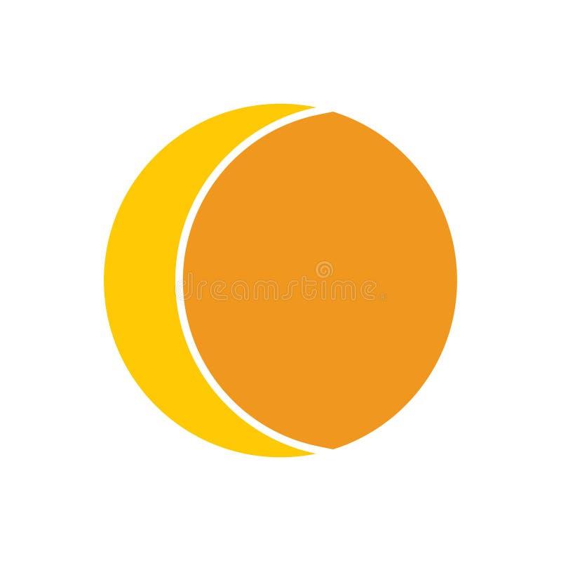 Значок Солнца на предпосылке для графика и веб-дизайна E r иллюстрация вектора