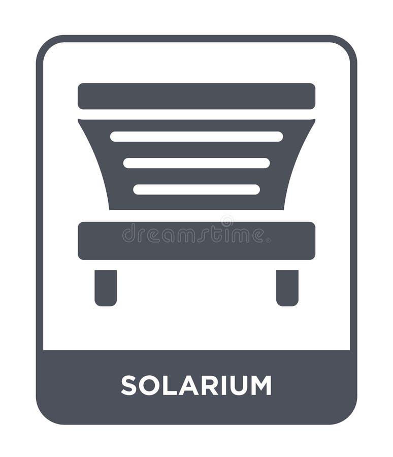 значок солярия в ультрамодном стиле дизайна значок солярия изолированный на белой предпосылке квартира значка вектора солярия про иллюстрация штока