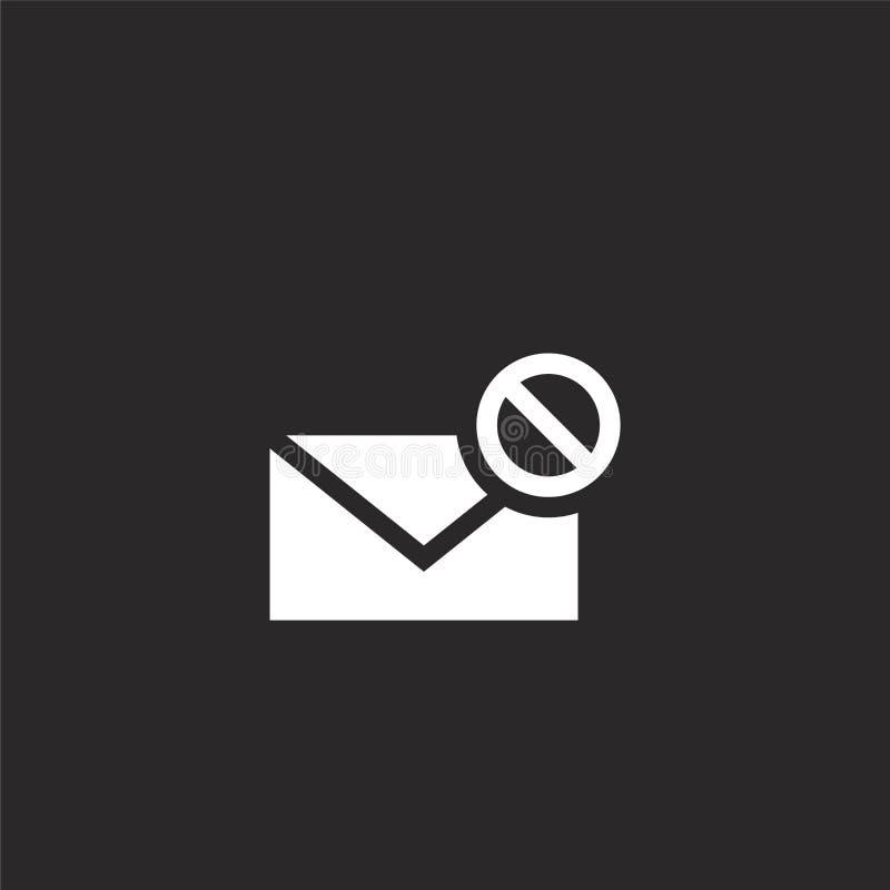 значок сообщения. Заполненный значок необработанного сообщения для ра бесплатная иллюстрация
