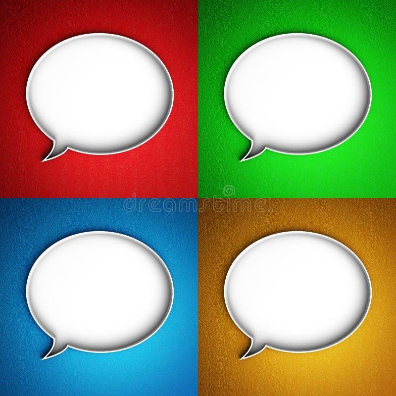 Значок сообщения. Пузырь речи. иллюстрация штока