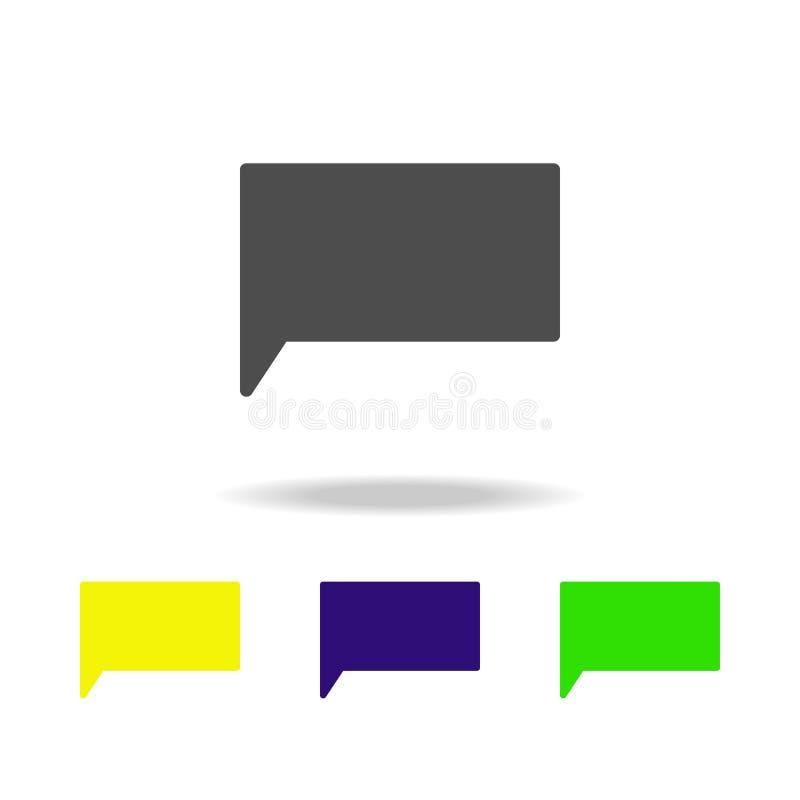 значок сообщения multicolor Элемент значков сети Знаки и значок для вебсайтов, веб-дизайн символов, мобильное приложение на белых бесплатная иллюстрация