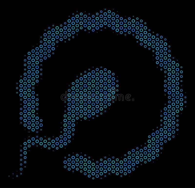 Значок состава осеменением пузырей полутонового изображения бесплатная иллюстрация
