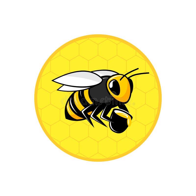 Значок сота пчелы иллюстрация вектора