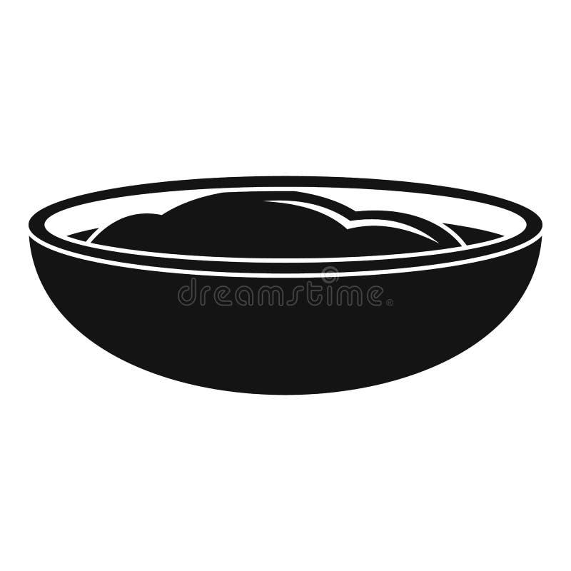 Значок соуса мустарда, простой стиль иллюстрация вектора
