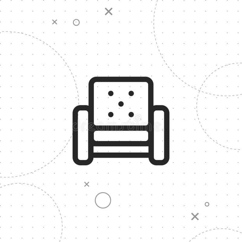Значок софы, значок кресла иллюстрация штока