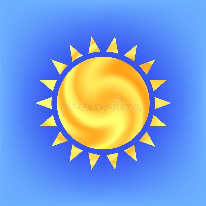 Значок Солнця иллюстрация штока