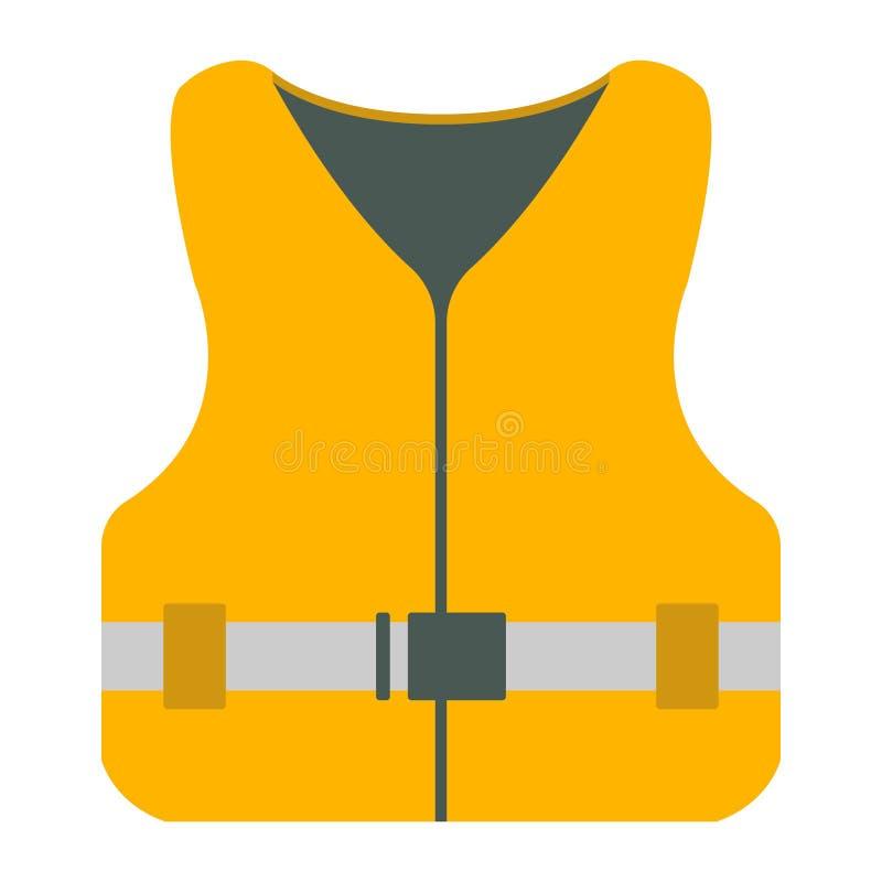 Значок спасательного жилета Оборудование туризма Элемент сети отключения лодки бесплатная иллюстрация