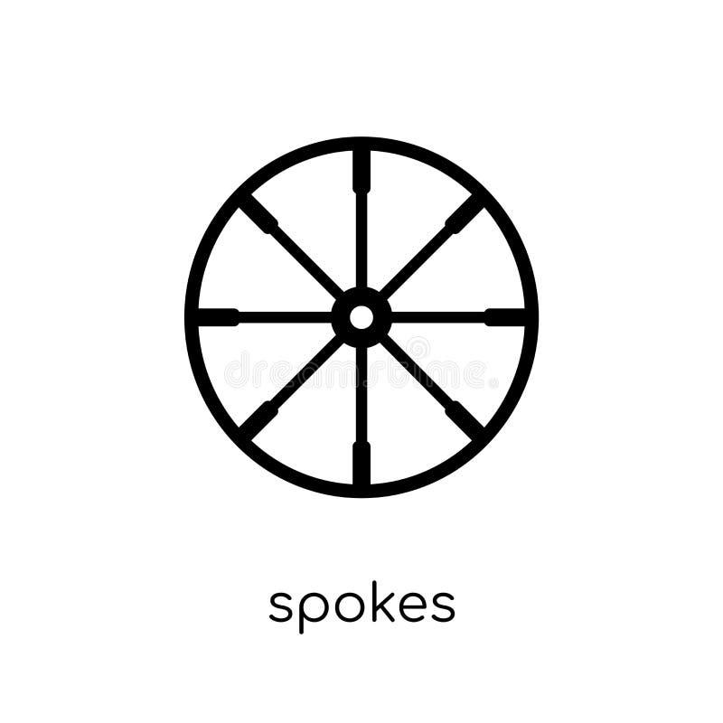 Значок спиц от шьет собрание иллюстрация штока